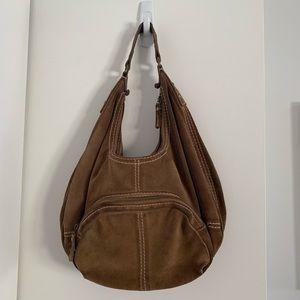 GAP brown suede hobo shoulder bag